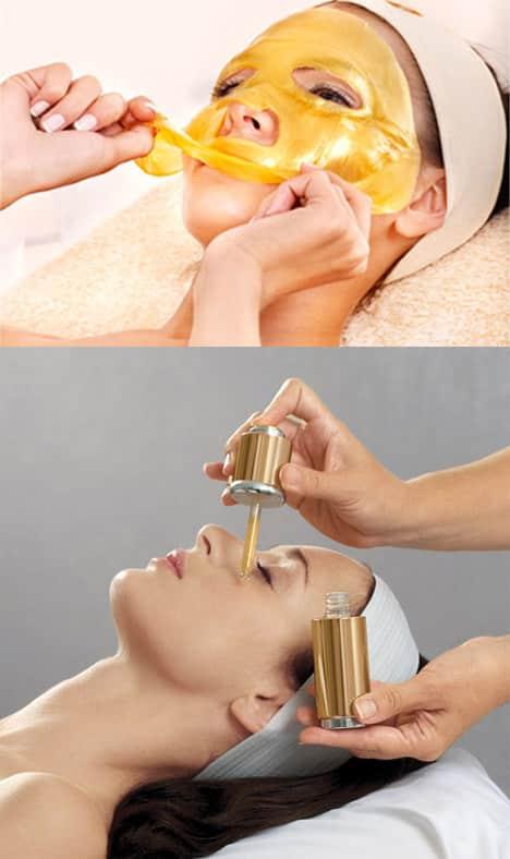 Ansigtsbehandling med guld